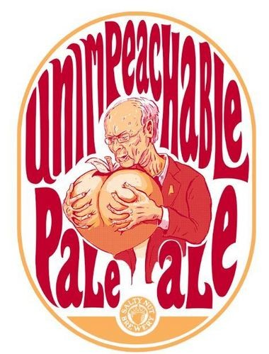 """Salty Nut co-owner Jay Kissell says the limited-edition Unimpeachable Pale Ale is """"so good you'll have to lock the door when drinking it."""" (Courtesy photo)"""
