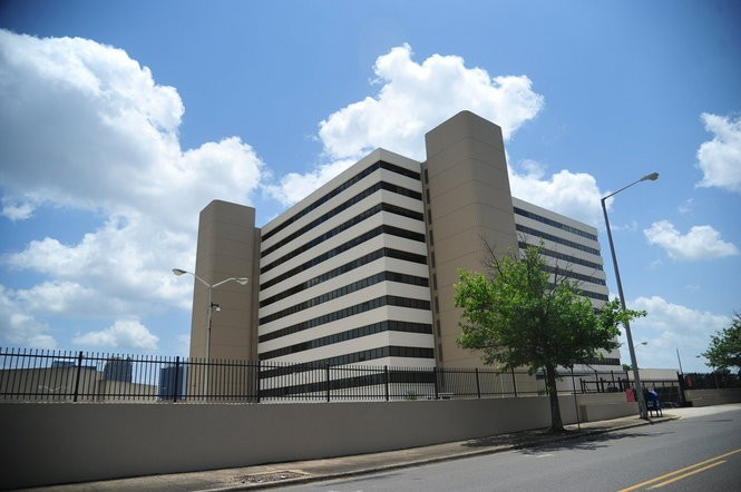 The former Birmingham Social Security Building has all the aesthetic charm of a parking deck. (Tamika Moore | tmoore@al.com)