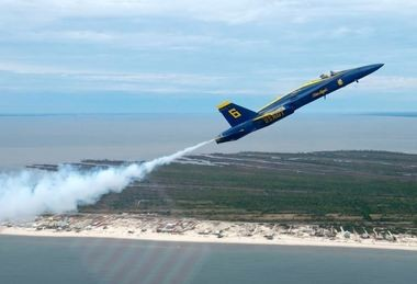 Blue Angel pilot Jeff Kuss, killed in a crash last week, was brought home to Pensacola yesterday. (Contributed photo/Blue Angels)