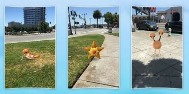 Can you find a Pokemon? Lots of people are out looking for them thanks to the new Pokemon Go game. (Contributed photo/Pokemon)