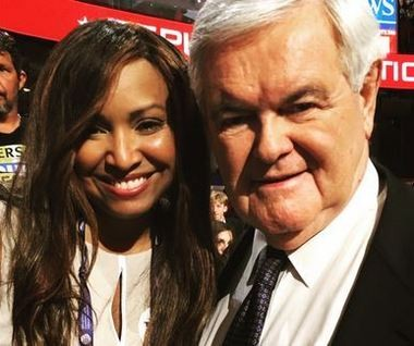 Lynn Patton with Newt Gingrich at the Republican National Convention in Cleveland. (Contributed photo/Twitter)