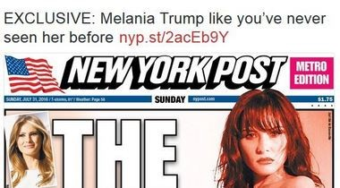 The New York Post published 20-year-old nude photos of Melania Trump on Sunday.