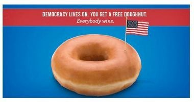 Krispy Kreme is offering free donuts to make election day a little sweeter.