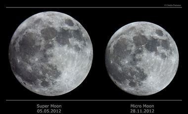 A NASA image shows the difference between a supermoon and a micromoon. (Contributed photo/NASA)