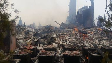 Officials in Gatlinburg plan to reopen the city to the public on Friday, more than week after a wildfire ravaged parts of the city. (Contributed photo/Greenville Fire Department)