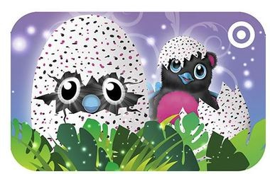 Target is getting Hatchimals in this Sunday but if you can't get one, they have Hatchimal-themed gift cards, too.