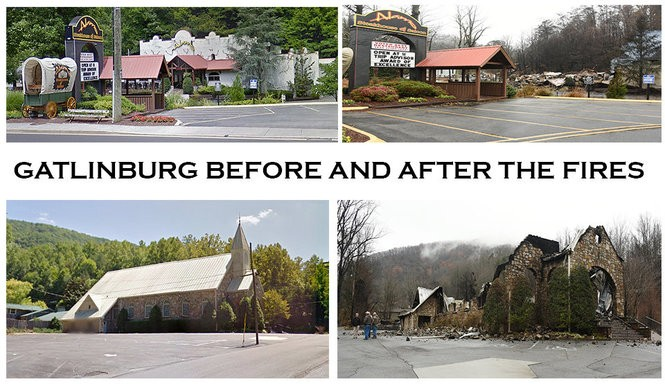 Gatlinburg Before And After Photos Show Effects Of Devastating