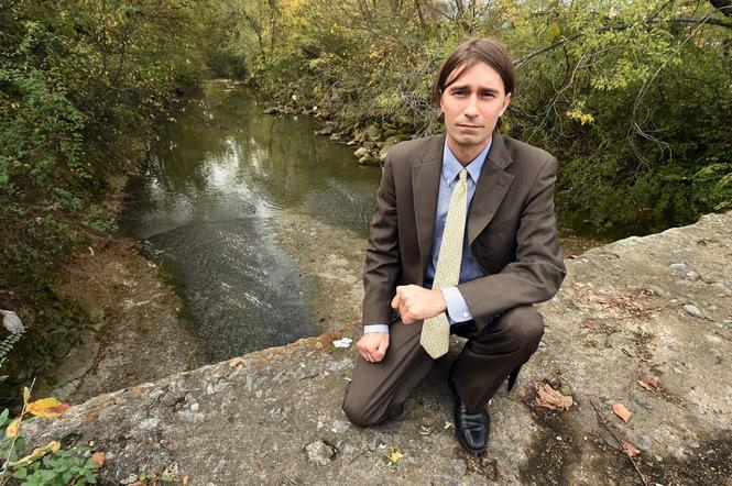 David Whiteside, founder of Tennessee Riverkeeper at Valley Creek in Birmingham.