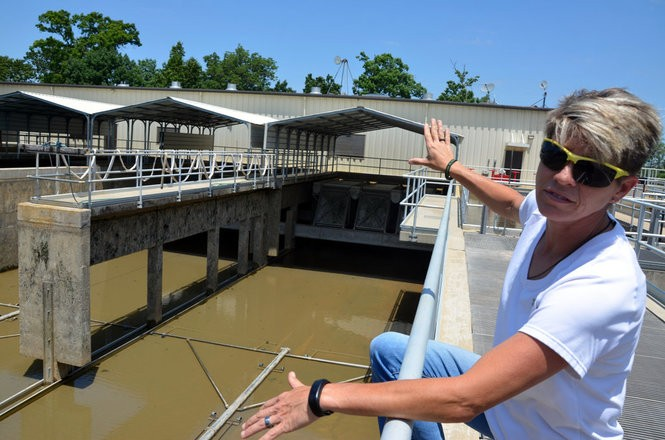 Assistant plant manager Jeaniece Slater at the West Morgan - East Lawrence Water and Sewer Authority's Robert M. Hames Water Treatment Plant on the Tennessee River in Hillsboro, Ala.