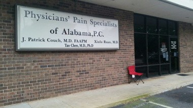 One of the Physicians' Pain Specialists of Alabama clinics closed in the May 2015 raids. (File photo)