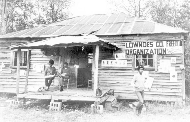 The Lowndes County Freedom Organization used a modest building for its headquarters. (Public domain)