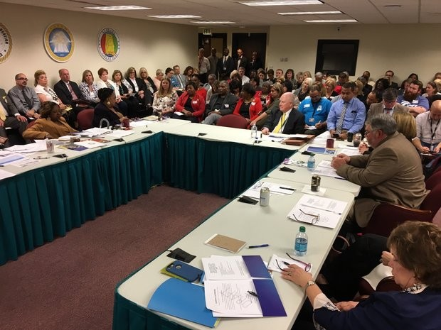 Alabama state board of education held its work session March 8, 2017 in Montgomery.