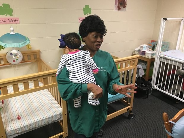 Donna Crowder has worked at the child care center at First Baptist Church in Montgomery for 16 years. The church chooses to have the center licensed and inspected by the state even thought it is eligible for a licensing exemption available to church-based centers.