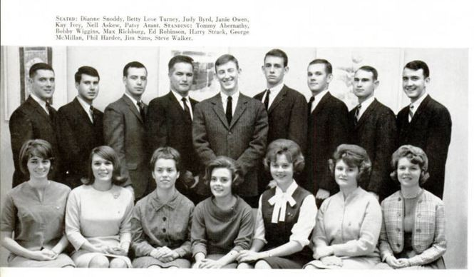 Kay Ivey is pictured here as a sophomore SGA senator at Auburn University. The photo was included in the 1964 Glomerata, the Auburn yearbook. (Auburn Digital Libraries)