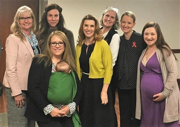 Midwife bill supporters in March after HB 315, which would allow midwives to legally practice in Alabama, received a favorable report out of House committee. (Submitted)