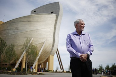 Ken Ham, founder of the creationist ministry Answers in Genesis, wants to attract both believers and nonbelievers to his family-friendly attractions. MUST CREDIT: Photo for The Washington Post by Luke Sharrett