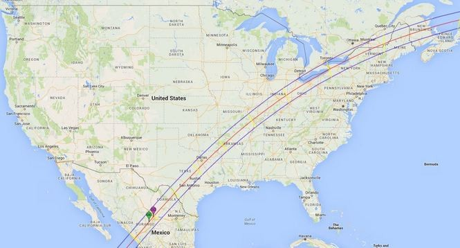 The path of the 2024 total solar eclipse. (Contributed photo/College of Southern Idaho)