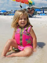 Sadie Grace Andrews is pictured on a beach trip with her family. (Family photo)