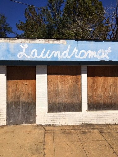 The old laundromat in Castleberry, Alabama