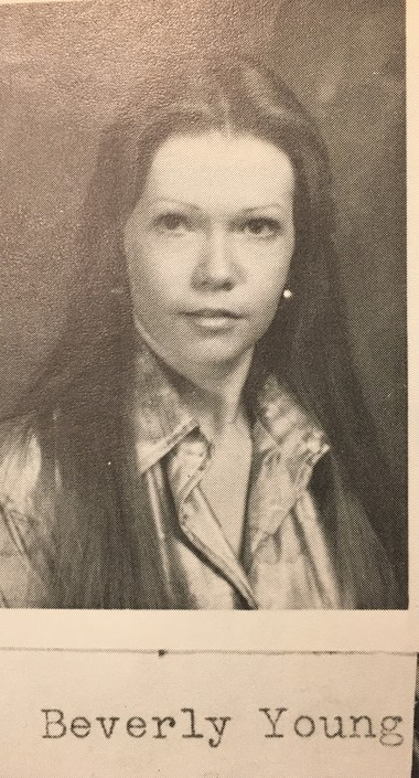 Beverly Young's picture among the sophomores in the 1977 Adventus yearbook of Southside-Gadsden High School.