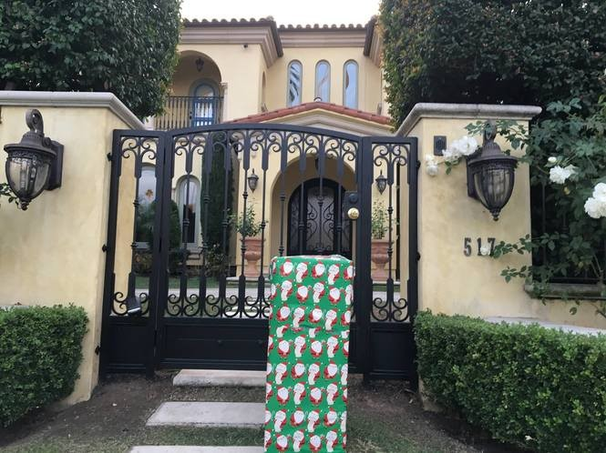 Robby Strong posted this photo to Facebook about 50 minutes before the LAPD reportedly received a complaint Saturday evening about a suspicious package outside U.S. Secretary of Treasury Steve Mnuchin's house. (Facebook / Robby Strong)