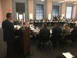 Alabama AG speaks to an opioid council prior to filing a federal lawsuit in February 2018.(Mike Cason | mcason@al.com)