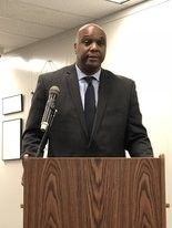 Shelby County Assistant Superintendent Lewis Brooks addressed school safety at summit in Jefferson County, Ala., on Mar. 12, 2018.