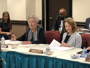 Alabama Gov. Kay Ivey and state Board of Education Vice President Stephanie Bell, R-Montgomery.