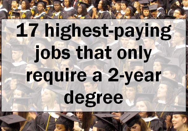 What is the highest paying associate degree jobs