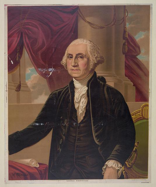 George Washington. MUST CREDIT: Library of Congress.