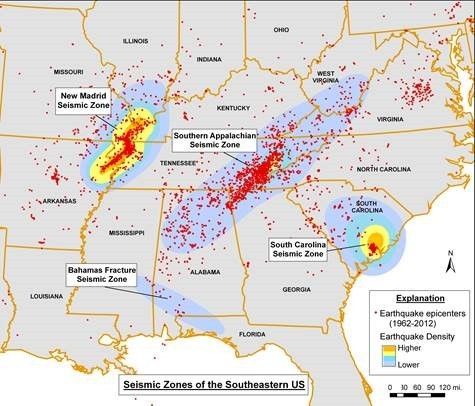 Mississippi Fault Line Map Alabama shakes: Small earthquakes are common but potential for a