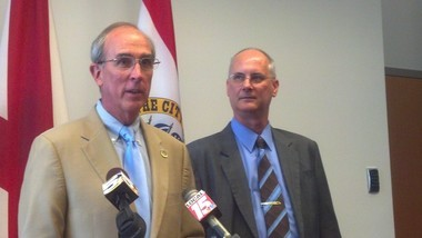 Mobile Mayor Sandy Stimpson announced retired Rear Adm. Richard Landolt as the city's executive director of public safety on Tuesday, July 1, 2014. Landolt is the first person to hold the position since Richard Cashdollar in 2005. (John Sharp/jsharp@al.com).
