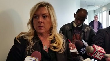 Mobile County District Attorney Ashley Rich talks to reporters after Monday's preliminary hearing for Hiawatha Robinson, 38, who is accused in the death of his 8-year-old daughter, Hiawayi Robinson. A judge ruled the case should heard by a grand jury. (Thyrie Bland | tbland@al.com)