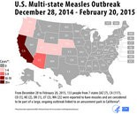The United States is currently experiencing a large, multi-state outbreak of measles linked to an amusement park in California. (Courtesy CDC)