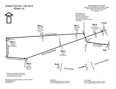 Azalea Trail Run 10K Course