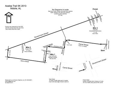 Azalea Trail Run 5K Course
