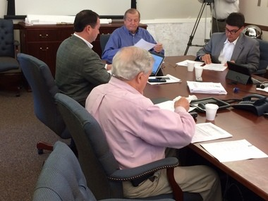 The four-member Baldwin County Commission meets on Thursday, April 9, 2015, in Robertsdale, Ala., to canvass the March 31, 2015, special election on the Baldwin County Schools tax referendum. (John Sharp/jsharp@al.com).