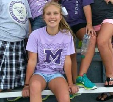 Megan Nickell, a 7th grader at Central Arkansas Christian School, reportedly died after she was struck by lightning at Fort Morgan in Alabama, on Sunday, July 5, 2015. (Courtesy of Central Arkansas Christian School via Facebook)
