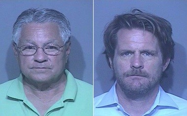 From the left, James Ghio and Bruce Gwyn (Baldwin County Jail)