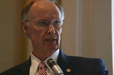 Alabama Gov. Robert Bentley speaks before a group of civic leaders on Friday, Nov. 6, 2015, in Gulf Shores, Ala. (Brian Kelly, bkelly@al.com).
