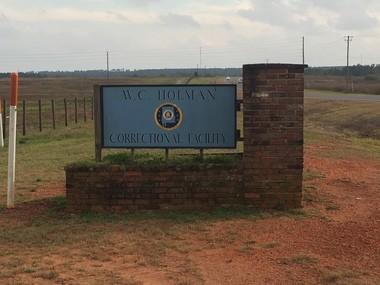 Holman Prison entrance.