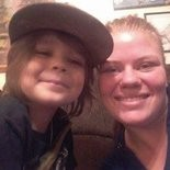 Jessica Newcomb, 21, (right) poses with her 5-year-old son (left) before her untimely death on May 24.