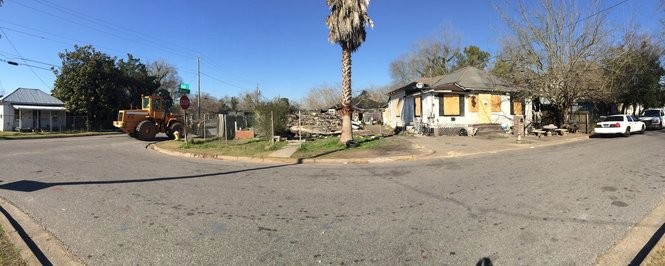 Mobile's executive director of public safety, James Barber, cites the demolition of a house that served as a longtime drug hot spot at 1076 State Street as an example of what it can take to make a long-term difference in illegal drug activity and related crime. (Courtesy of the Mobile PD)