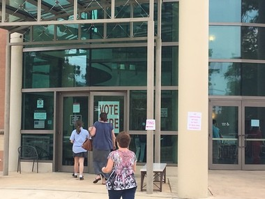 Voters file into the Mobile Museum of Art on Tuesday, Aug. 22, 2017, to cast a vote in the Mobile municipal election. (John Sharp/jsharp@al.com).