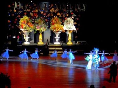 The elaborate stage during the 2013 Infant Mystics ball inside the Mobile Civic Center. (file photo)
