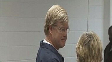 U.S. District Judge Mark Fuller, pictured in court Monday, was arrested Saturday night and charged with battery. (c/o FOX 5 Atlanta - WAGA)