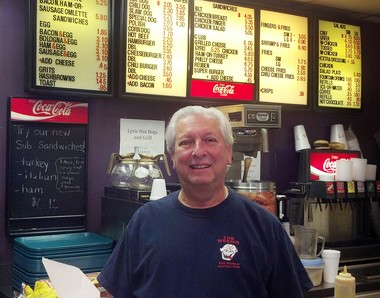 Lyric Hot Dogs & Grill owner Andrew Collins