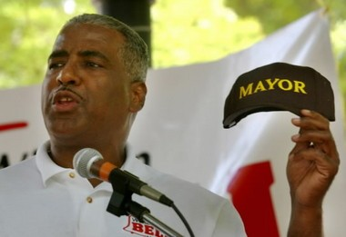 "Bell once said ""Don't wear a mayor hat."" But man, a hat looks cheap compared to this."