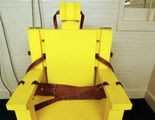 Alabama's long-retired electric chair, Yellow Mama. (Dave Martin/Associated Press)