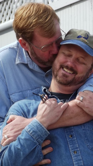 Paul Hard and his husband, the late David Fancher (Photo provided courtesy of Paul Hard)